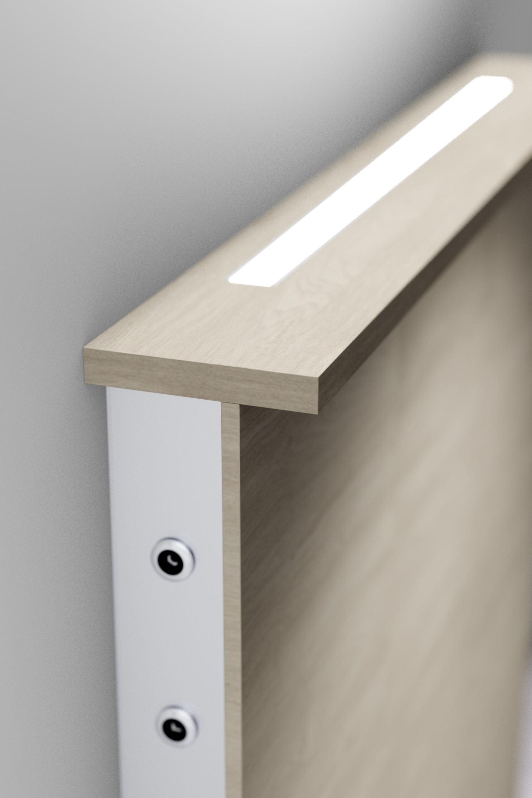 Medical Wall Supply Unit Ligno Lighting Example