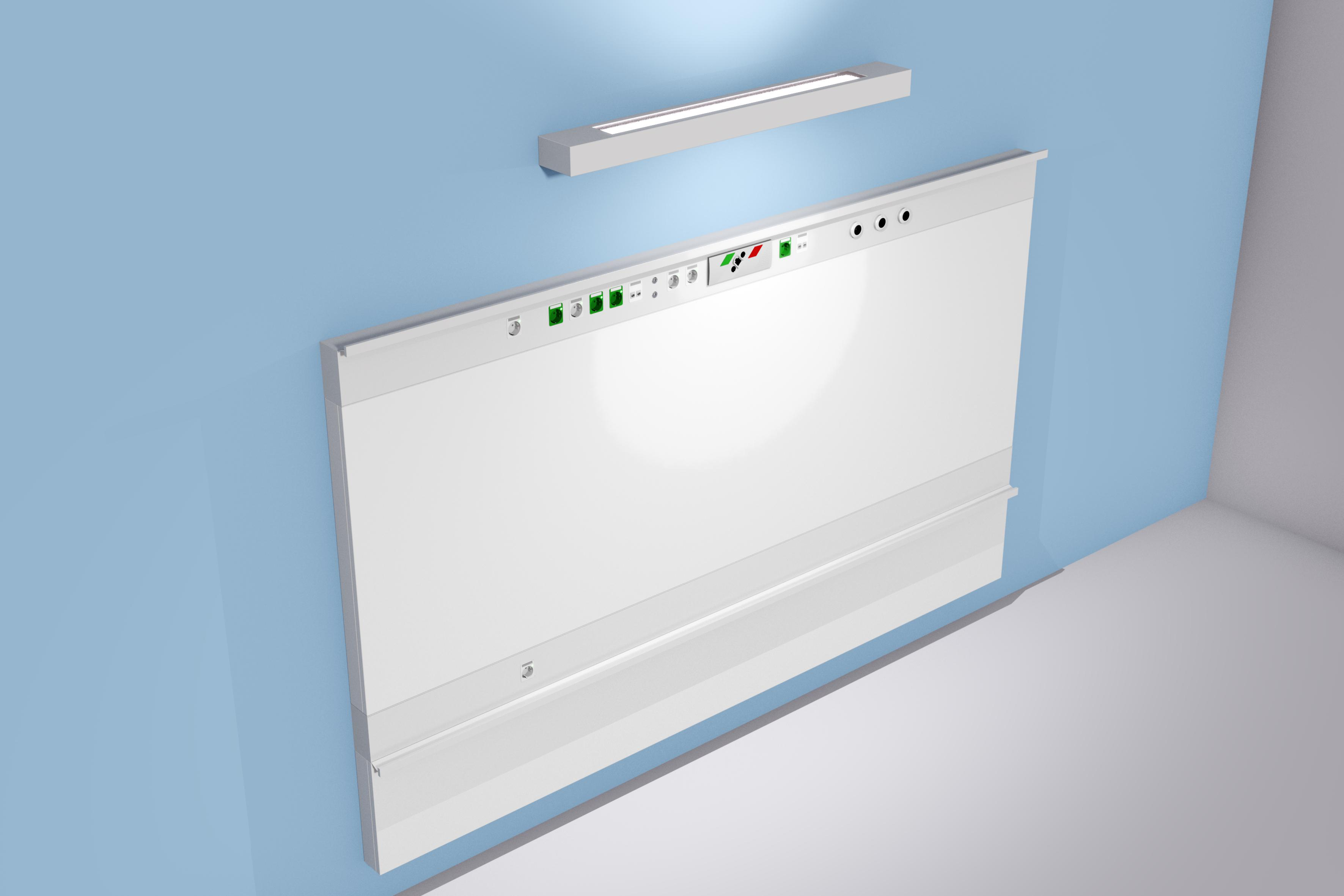 Medical Wall Supply Unit Ligno Horizontal Example
