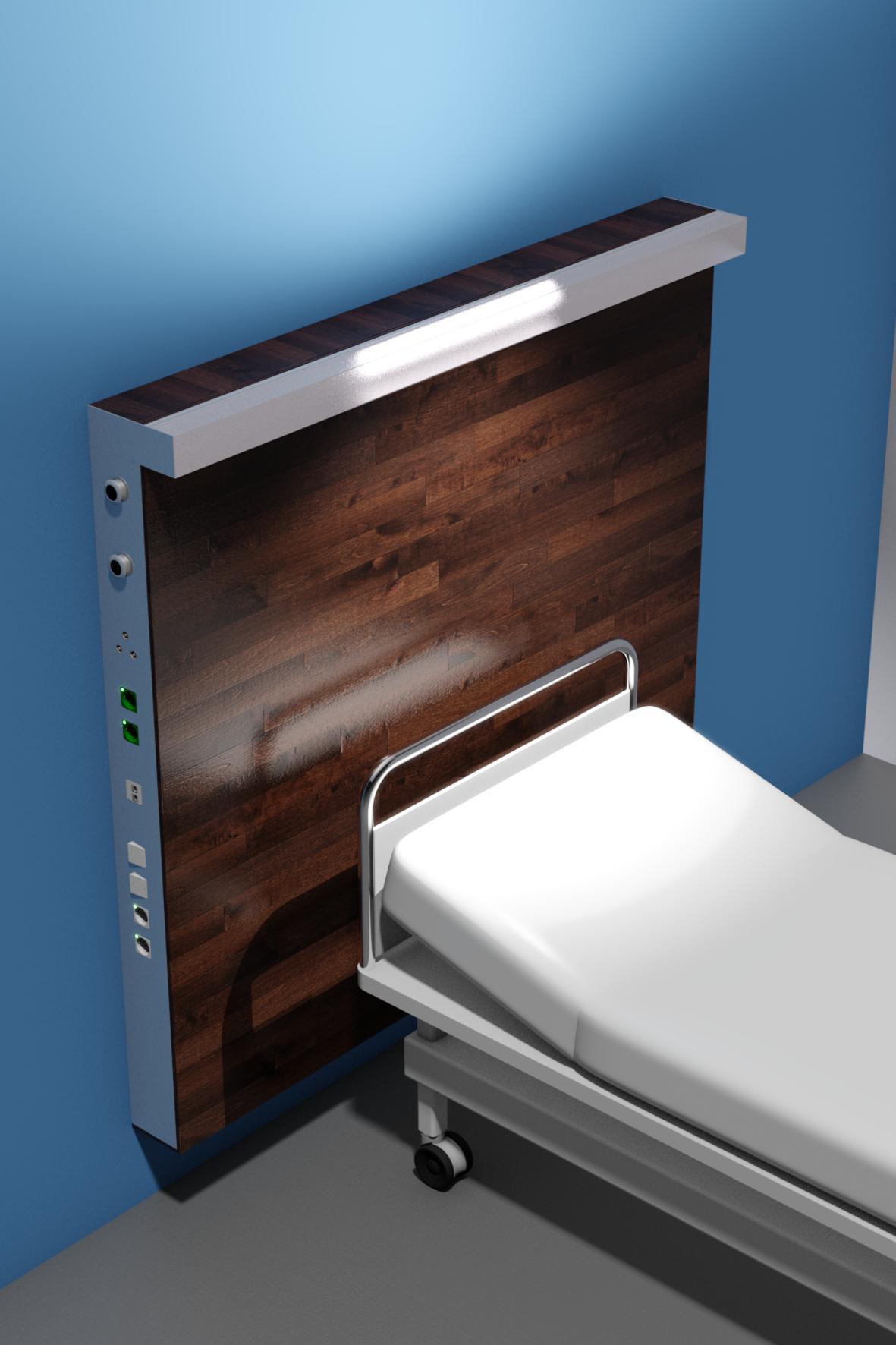 Medical Wall Supply Unit Ligno Vertikal Example